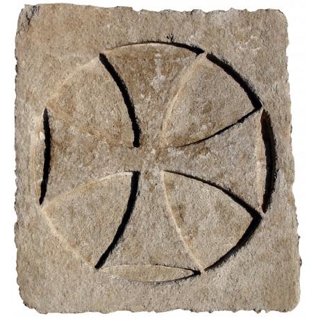 Stone Templar Cross rectangular