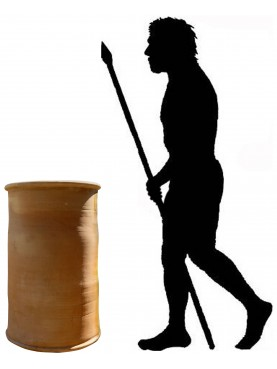 Cilindro Ø49 cm in terracotta marocchino fatto al tornio vaso