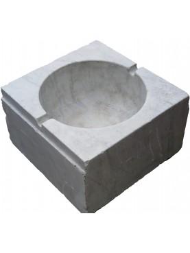 Lavandino ligure originle marmo bianco di Carrara quadrato