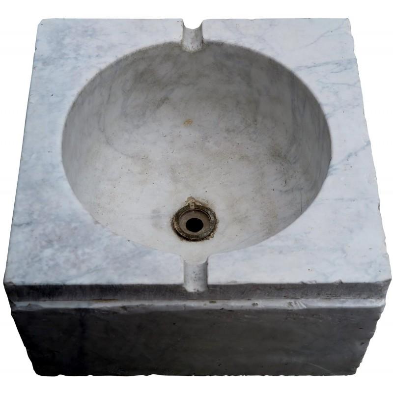 ... Lavandino Ligure Originle Marmo Bianco Di Carrara Quadrato ...