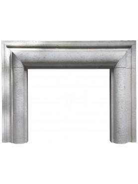 White Limestone Fireplace