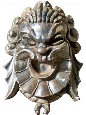 Maschera in gesso patinato - mascherone ionico Jonico greco antico