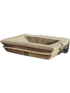 Bacile in pietra arenaria grigia lavandino antico
