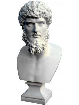 Lucio Vero roman emperor - small plastercast bust