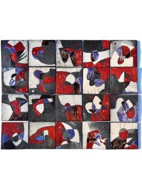 PANNELLO RAKU di Antonietta Capecchi - 75 x 60 cm