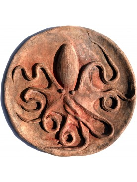 Octopus Roundel from a Greek Magna greece Syracuse coin - terracotta