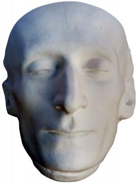 Maschera mortuaria di Giacomo Leopardi in gesso