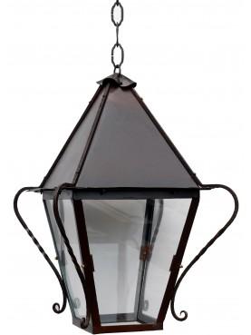 Lanterna italiana in ferro battuto