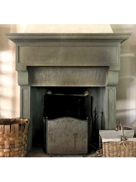 Val d'Orcia ancient Tuscan style fireplace sandstone