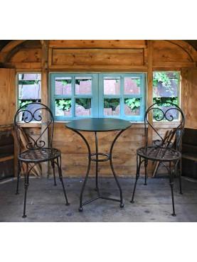 Due sedie ed un tavolo Boldini Ø55 cm TTL € 600,00