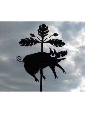 Siena wild boar wind-wane