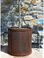 Rust container pot for garden