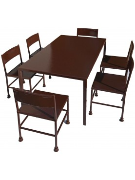 Children's set - six chairs and a one table