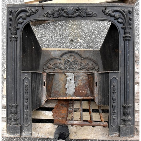 ancient Cast iron fireplace from Lucca