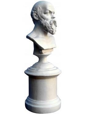 Socrate filosofo greco - piccolo busto in gesso - tanagre