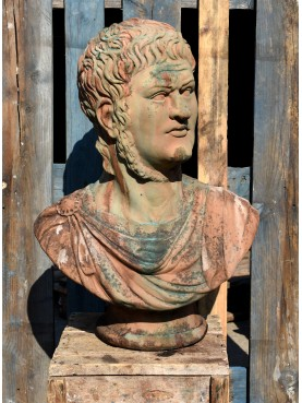 Busto di Nerone in terracotta