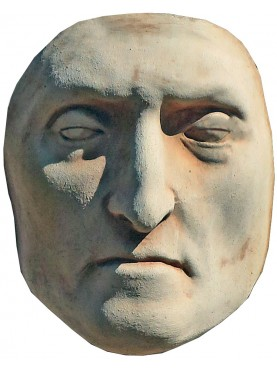 Dante Alighieri mortar mask in terracotta