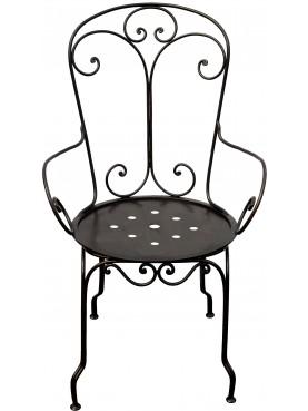 sedia ferro battuto Accademia Navale di Livorno