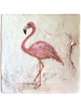 Flamingos majolica tiles