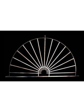 Cast iron semicircle fan window