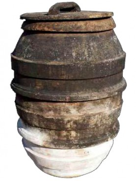 Orcio da olio senese antico in terracotta