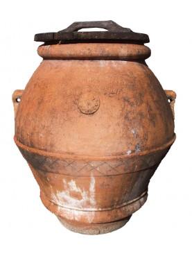 Orcio Toscano H.80cm antico in terracotta
