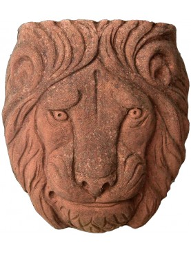 Lion mask 3 sizes terracotta