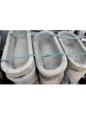 Mangiatoia in pietra antica originale ovale
