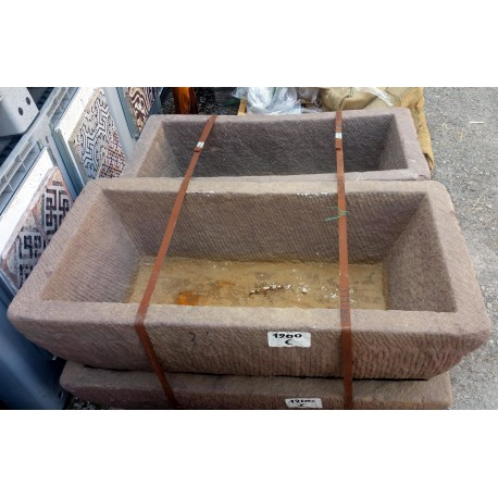 Ancient original sandstone trough manger rectangular