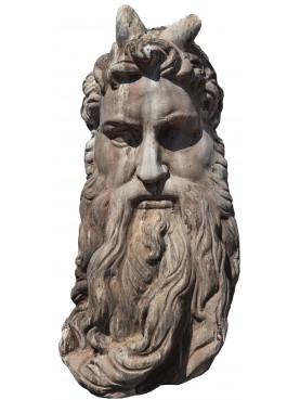 Mask of the Moses of Michelangelo in terracotta, 1:1