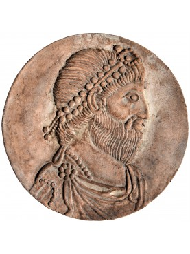 Portrait of Julian the Apostate terracotta roundel
