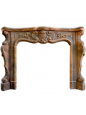 Terracotta fireplace 150 cm L.