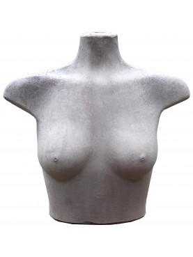 Women's torso in patinated terracotta