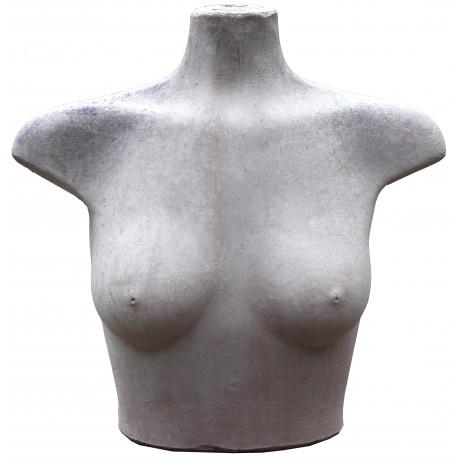 Torso femminile in terracotta patinata