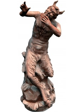 Pan Faun - Terracotta with patina