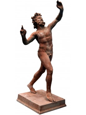 Terracotta Pompei faun bronze patina