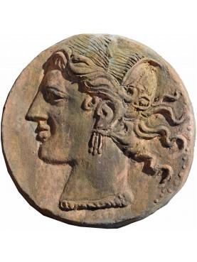 Alessandro Magno, tondo di Lisimaco in terracotta - statere