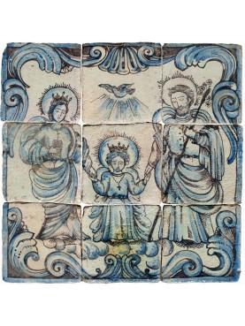 Pannello devozionale maiolica siciliano