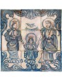 Maiolica panel sicilian devotional