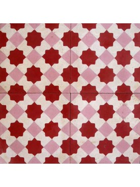 Cement Tiles Red Pink Cream
