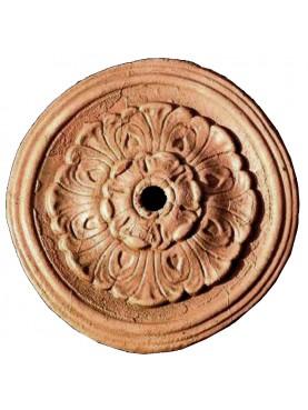 Terracotta ceiling rosette from Impruneta (Florence)
