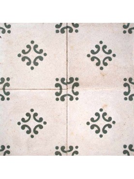 Cement tiles Decorates Simple Design White Green