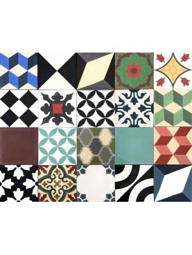 Patchwork Mixed Cement Tiles