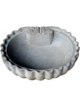 Conchiglia in pietra serena - arenaria lavandino