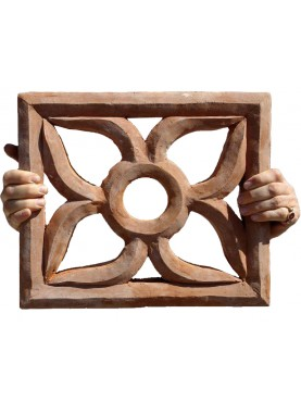 40x35cms Large terracotta ventilation window grid
