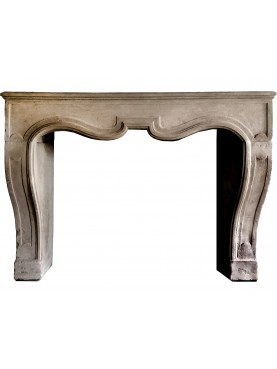 French fireplace - light limestone