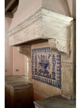 Traditional Portuguese azulejos maiolica tiles panel