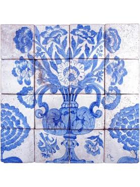 Pannello portoghese floreale azulejos