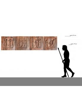 Grande pannello di 280 cm d'ispirazione Archeologica Greco Romana