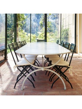 Marshall Great forged iron table Porcinai